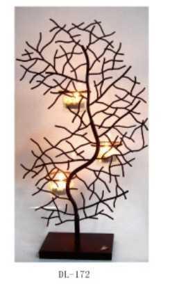 Dekoratif Ağaç Mumluk