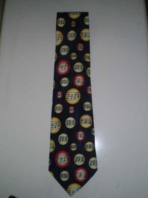 Notalı Renkli Kravat