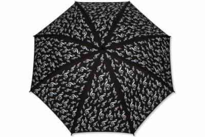 Sol Anahtarlı Baston Şemsiye Siyah - Thumbnail