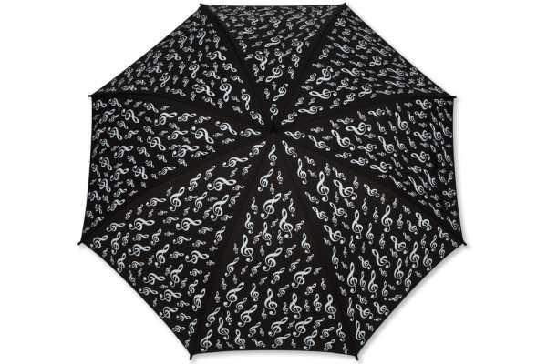 Sol Anahtarlı Baston Şemsiye Siyah