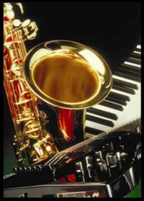 Saksafon ve Piyano Posteri - Thumbnail