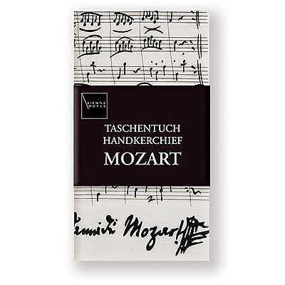 Mozart Notalı ve İmzalı Mendil - Thumbnail
