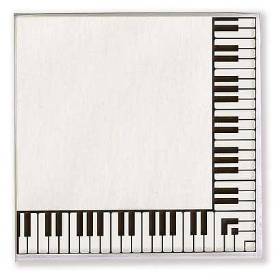 Piyano Tuşeli Kağıt Peçete