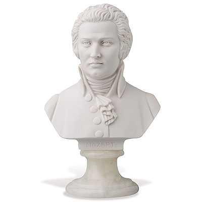 Mozart Büst - 16 cm - Thumbnail